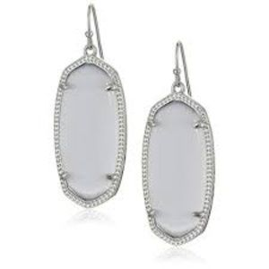 Kendra Scott Light Gray and Silver Earrings